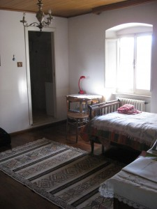 My bedroom - I was lucky enough to get a single! There is a bathroom connected at the other side of the room.