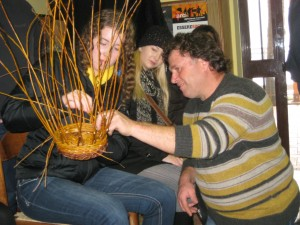 Learning to weave - that is Flavio, the patriarch of the family