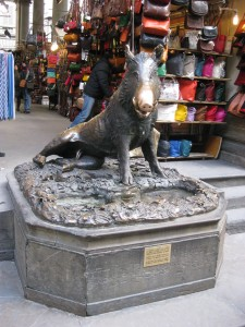 The lucky boar of Florence - people rub the nose for good luck!