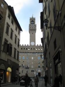 About to enter Piazza della Signoria and Palazzo Vecchio.