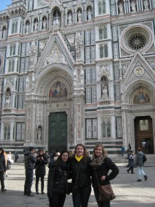 Two of my roommates and I in front of the Duomo.
