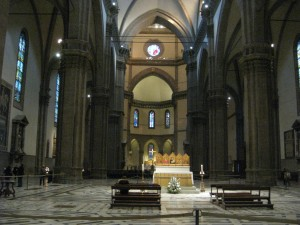 A view inside the Duomo.
