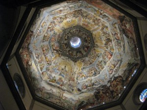 A view of the inside of the Duomo dome.