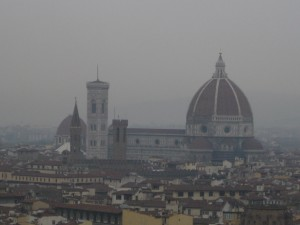 A close up of the Duomo from afar.