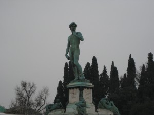 Another copy (this one in bronze) of the statue of David.