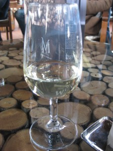 At the end of the tour we had a wine tasting in the Green Bar room (newly redesigned - a great space!).  We tried Montevibiano's 1 white wine and 3 red wines - my favorite was the white wine.