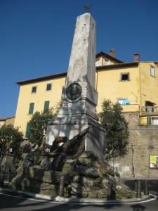 An obelisk memorial.