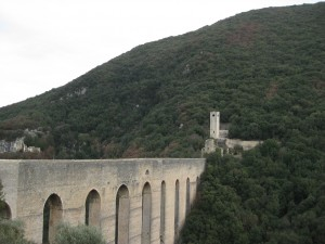 Overlooking Ponte delle Torri - a bridge built on the foundations of a Roman aqueduct.