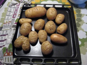 First step was to bake some potatoes!