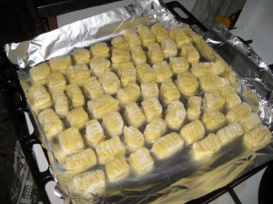 Finally we made the gnocchi!  This is only a portion of what we made.