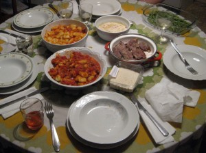 Our delicious meal!