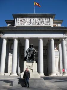 Outside of the Museo Nacional del Prado.