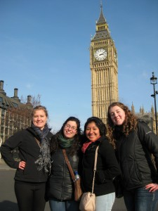 Roomies in front of Big Ben!
