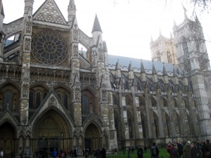 In front of Westminster Abbey.