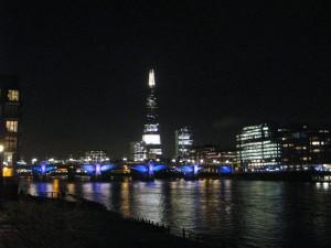 Walking back along the Thames at night!