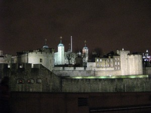 The Tower of London at night!