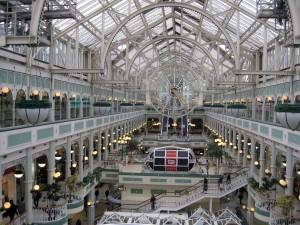 Inside a shopping center - very pretty!