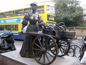 The Molly Malone statue.