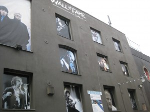 Dublin's Wall of Fame! — at Dublin, Ireland.  Most prominently on the upper left (although cut off in my picture) is U2.