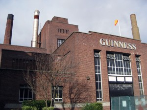 On the way to the Guinness Storehouse!