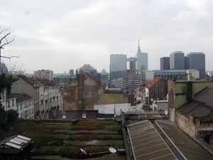 The view of Brussels from our hotel room.