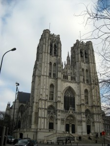 The St. Michael and St. Gudula Cathedral.