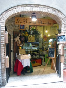 A cool little shop where all of the products are from San Gimignano.