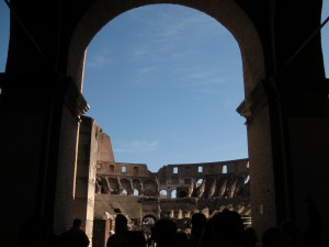 An entrance to the main area of the Colosseum!