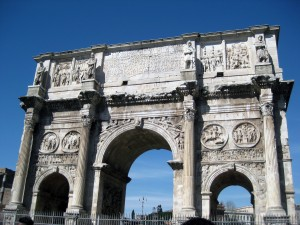 Arco di Costantino - upon entering Palatine Hill.