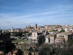 Overlooking the Roman Forum!