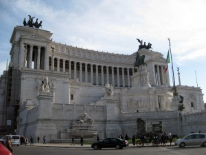 This is the Monumento a Vittorio Emanuele II.