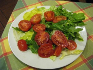 "My insalata mista - usually the ""mixed salad"" in Italy has many more types of veggies in it."