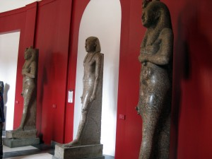 Some Egyptian statues!