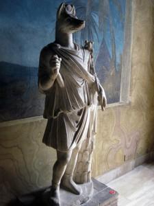 Statue of Anubis.