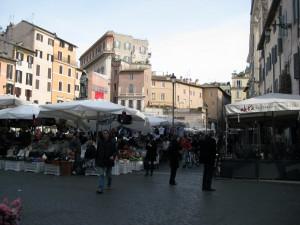 Campo de' Fiori market.