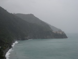 The corniglia coastline - you can see Manarola from afar.