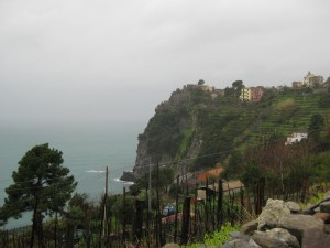 Hiking up to Corniglia!