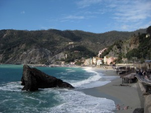 A beautiful day!  A view of Monterosso's coastline.