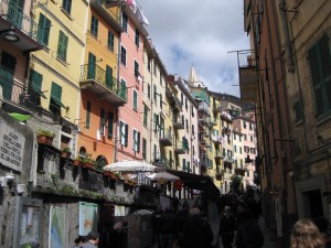 The main street of Riomaggiore!