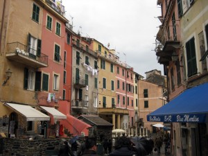 The main street in Vernazza.