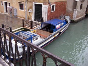 An ambulance boat - one of the many differences of Venice!