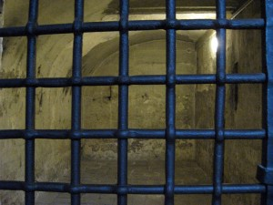 A jail cell.