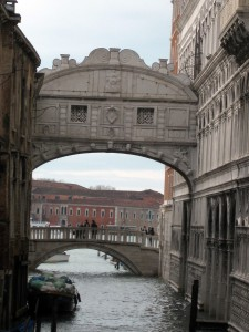 The Bridge of Sighs from the outside.