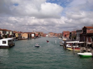 Crossing over a main road (canal) in Murano.