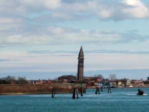 I swear that tower is leaning! Burano from afar.