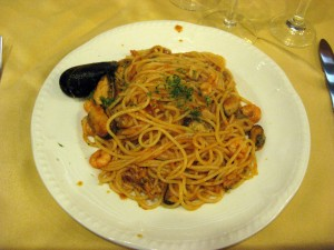 Spaghetti al Mare for the first course.