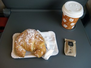 I got breakfast to go for the train - my usual breakfast when I go out!