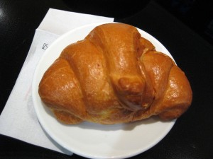 The finished product!  Although this one is a cream filled croissant.  Yum!