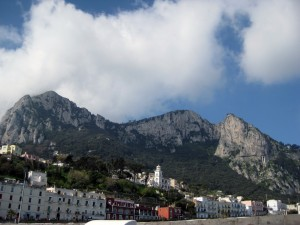 View of Capri from the boat!