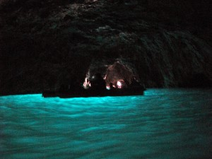 From inside of the Blue Grotto - you can see the beautiful color of the water!